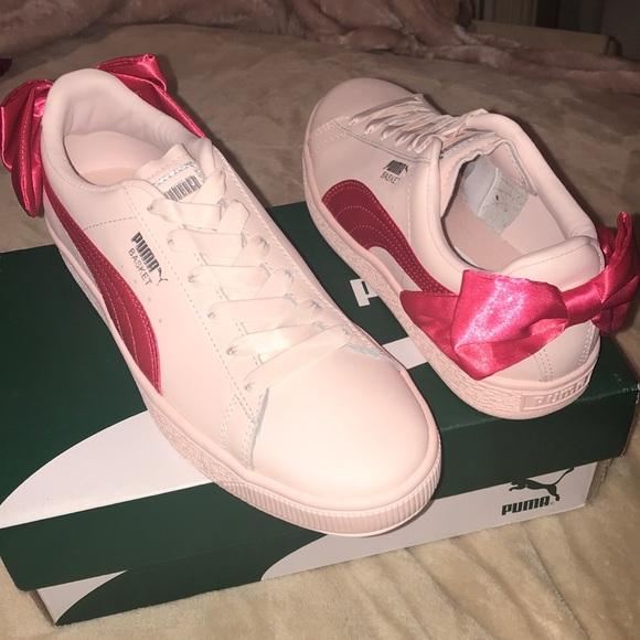 Puma Shoes | Basket Bow Jr | Poshmark